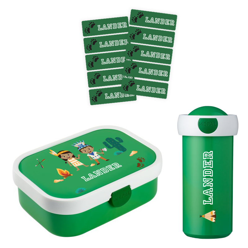 Mepal lunchbox en drinkbeker met naam 0,3l + GRATIS 25 medium naamstickers