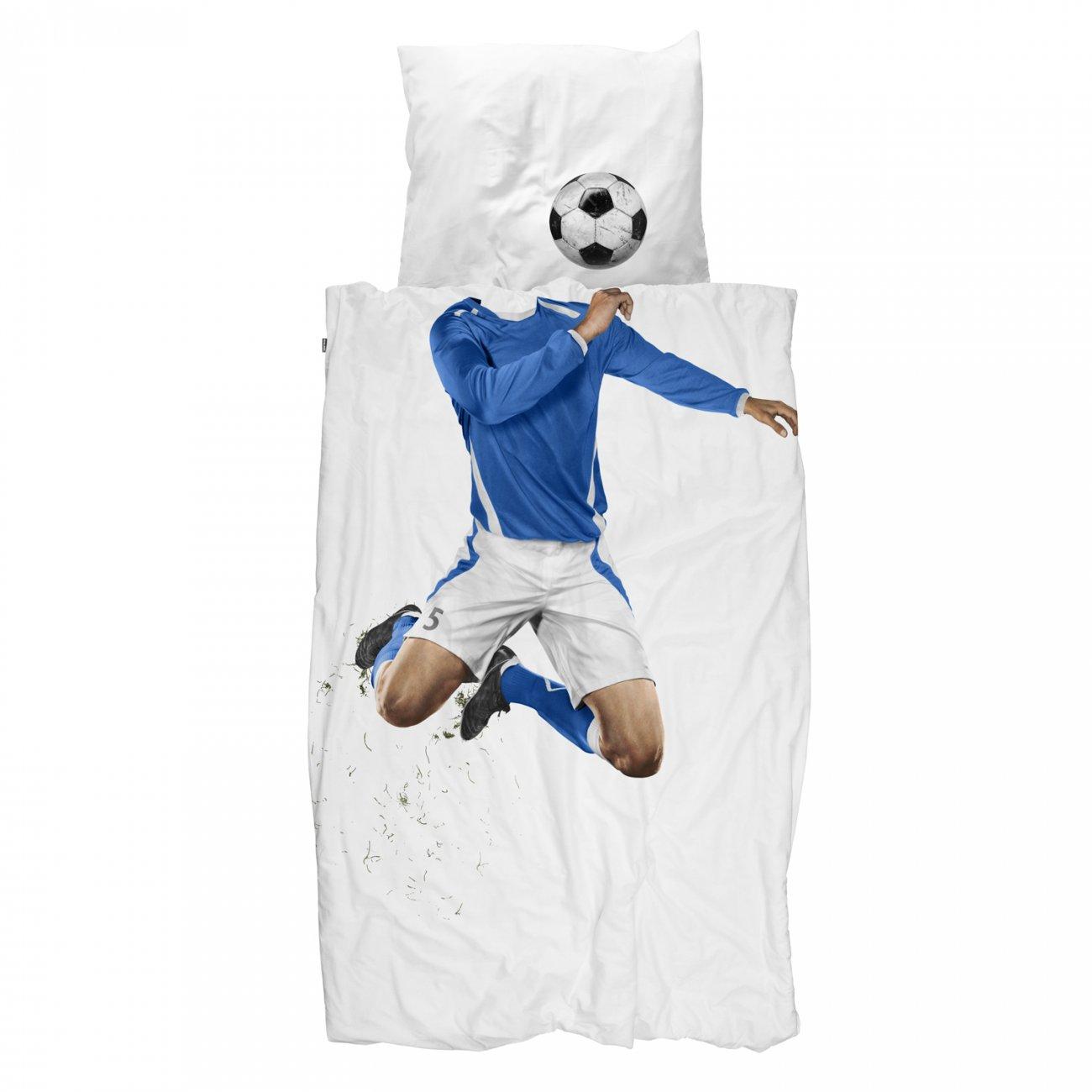 Snurk dekbedovertrek Soccer Champ Blue - 140x220