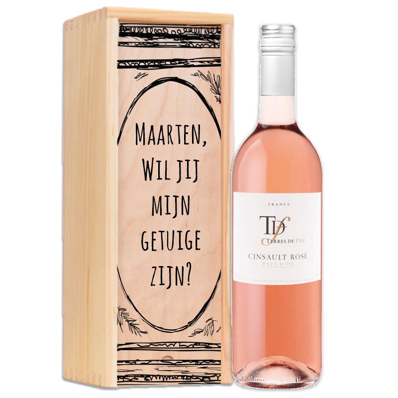 Gepersonaliseerd wijnpakket Cinsault Rosé - Terres de feu