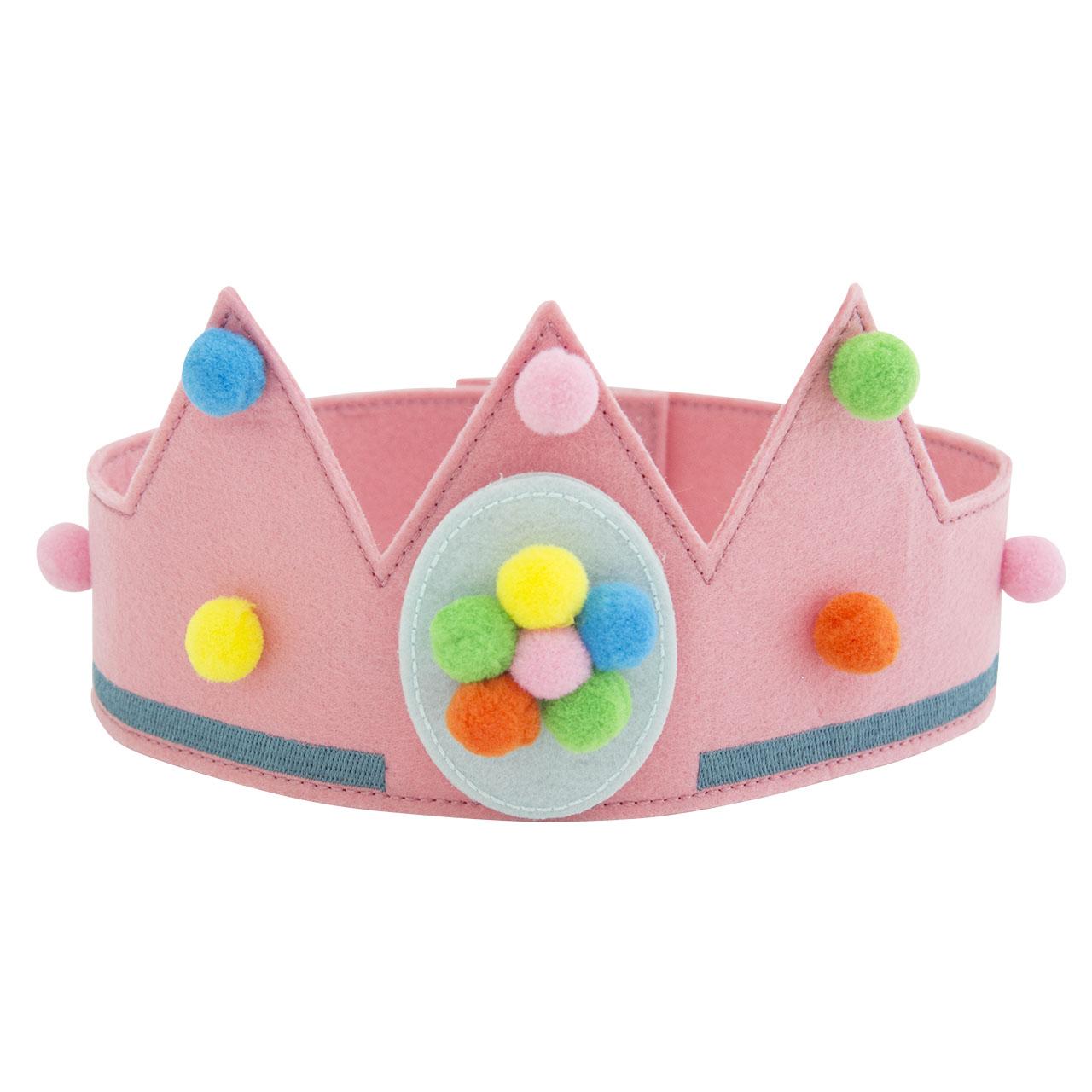 Kroon  met pompoms - Meisje