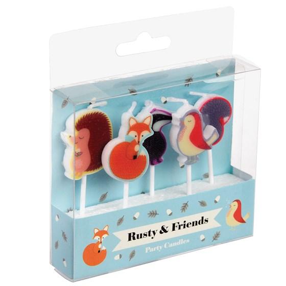 5 Bougies D'anniversaire 'Rusty