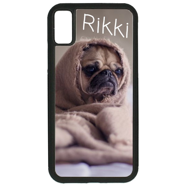 Gepersonaliseerd Apple Iphone X rubber hoesje