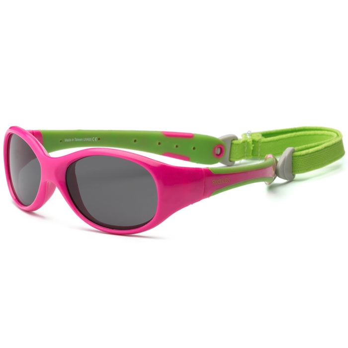 Real Kids - Explorer - Lunettes de soleil enfant -  Protection 100% UVA & UVB - UV400 - Cherry Lime - taille 0 - 2 ans