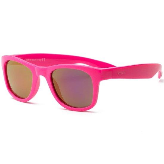 Real Kids - Surf - Kinder zonnebril - 100% UVA & UVB bescherming UV400 - Neon Pink - maat 7 jaar +
