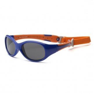 Real Kids - Explorer - Kinder zonnebril - 100% UVA & UVB bescherming UV400 -Navy Orange - maat 0 - 2 jaar
