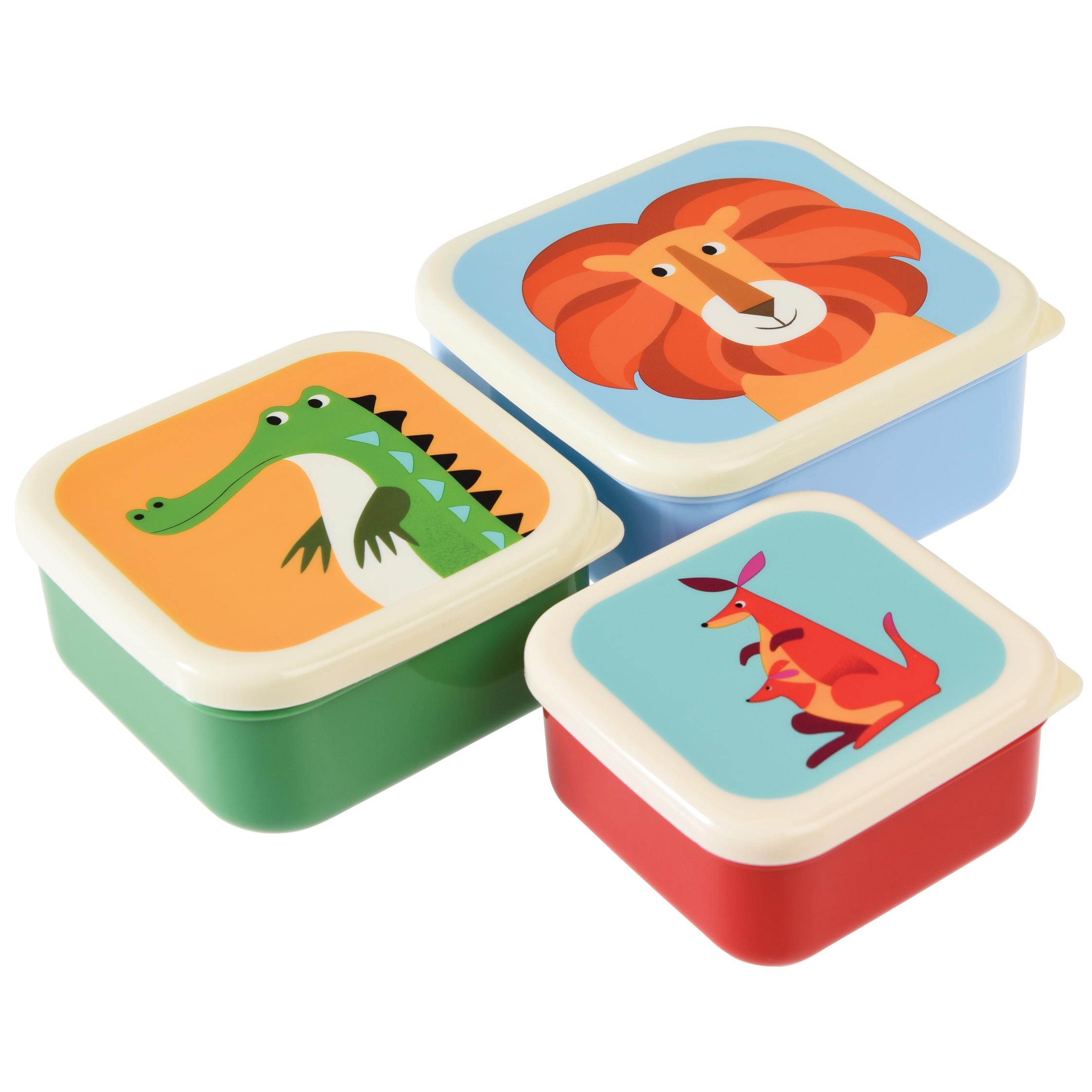 Set van 3 snackdoosjes - Colourful Creatures