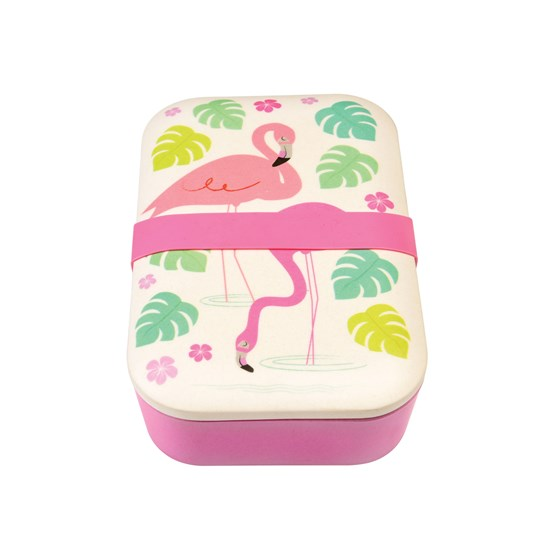 Lunchbox Bamboe Flamingo's