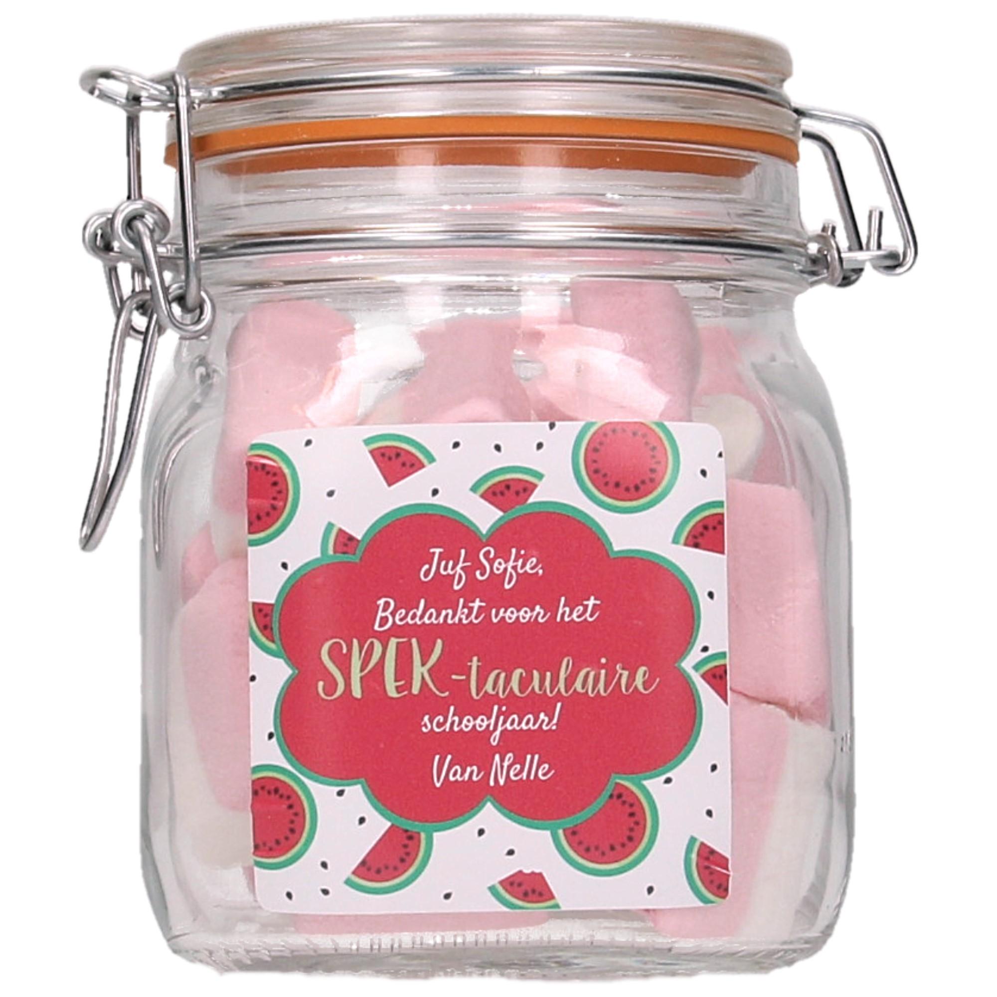 Spekpot 'Bedankt voor het SPEKtaculaire schooljaar' - Watermeloen
