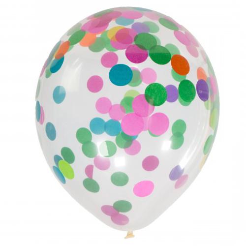 4 ballons confetti - Multicolore