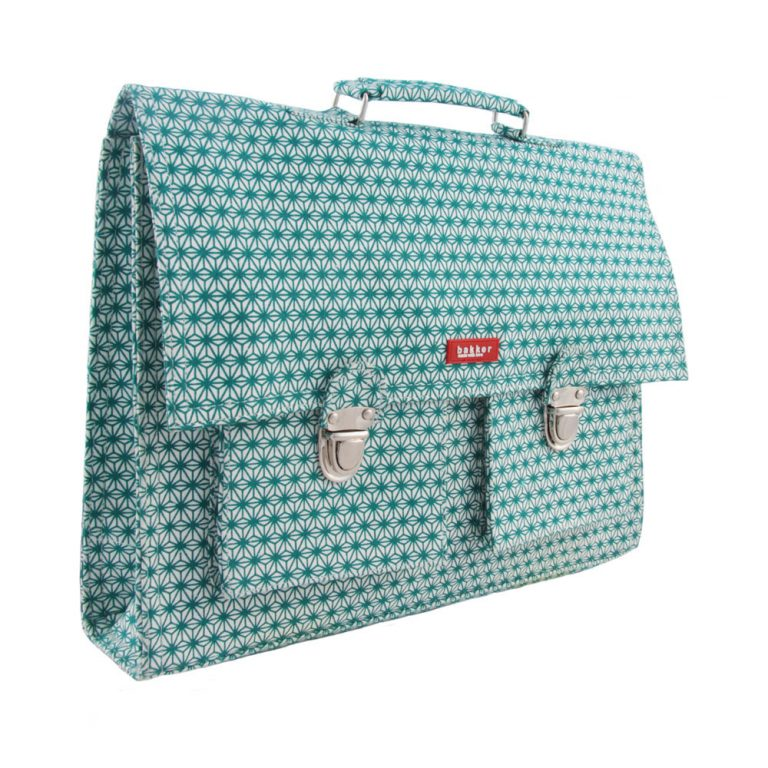 Bakker cartable Toile X Turquoise