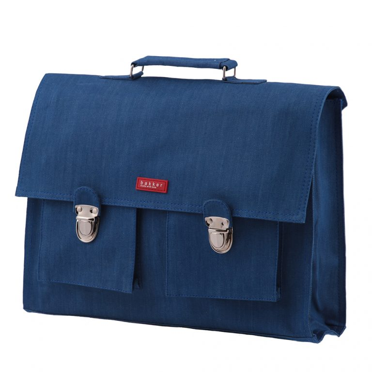 Bakker Boekentas Jean Medium Blue