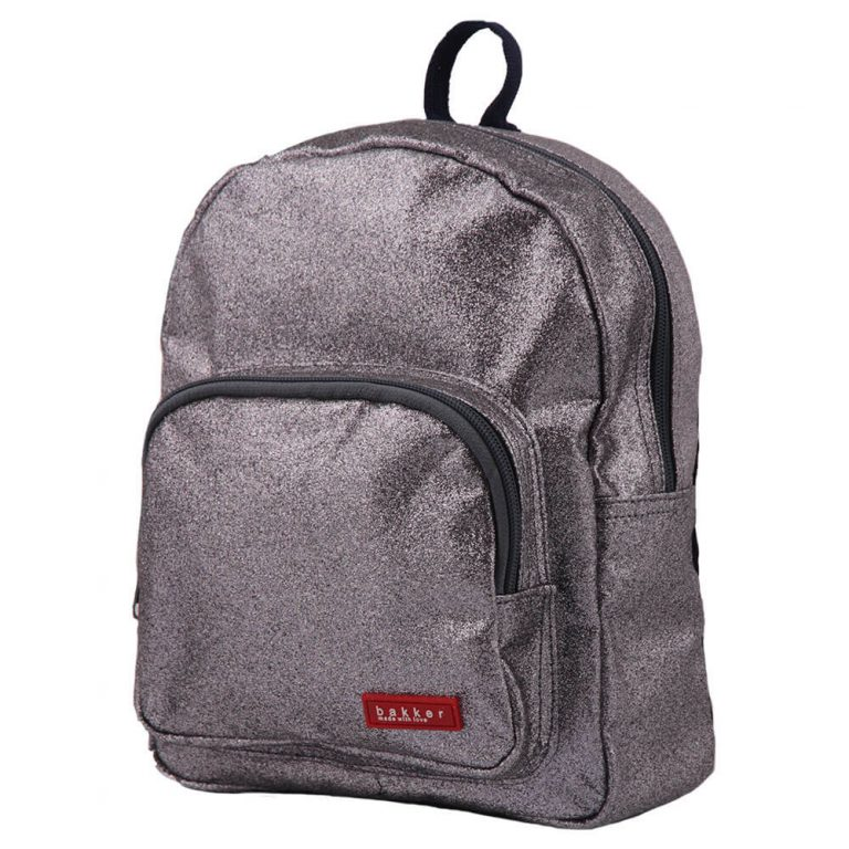 Sac a dos enfant - Glitter Dark Grey - Bakker Made with Love