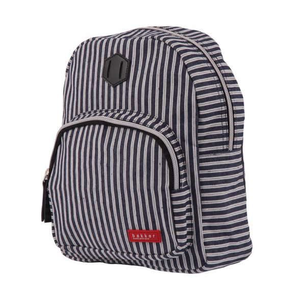 Sac a dos enfant  Bakker Made with Love - Jean rayures