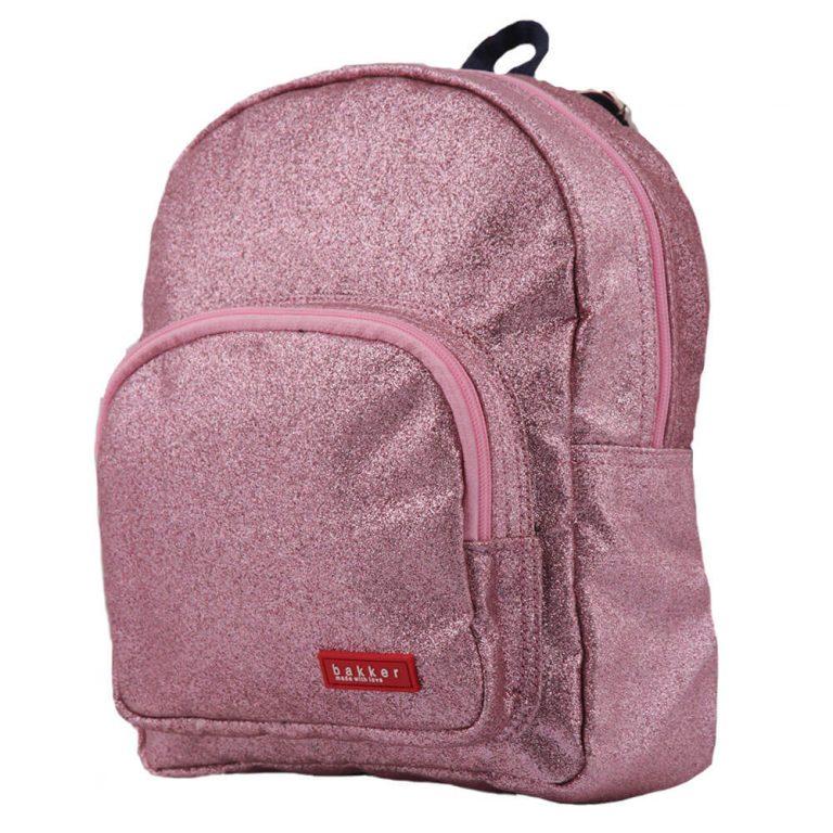 Bakker Rugzakje Glitter Dark Pink