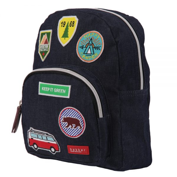 Bakker Rugzakje Jean & Patches Dark Blue Camping