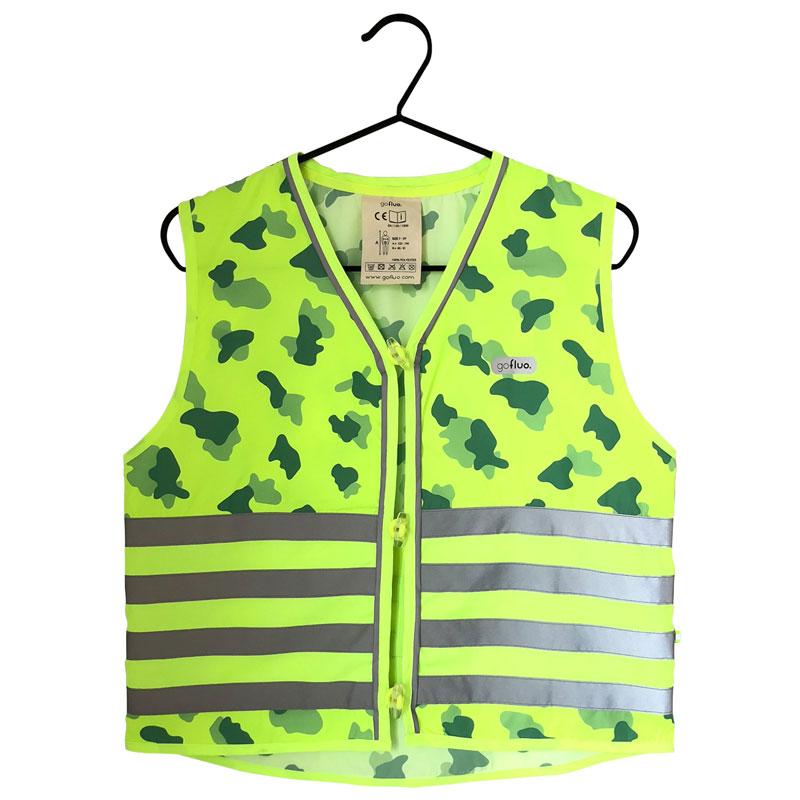 Gilet de sécurité Go Fluo Camouflage vert