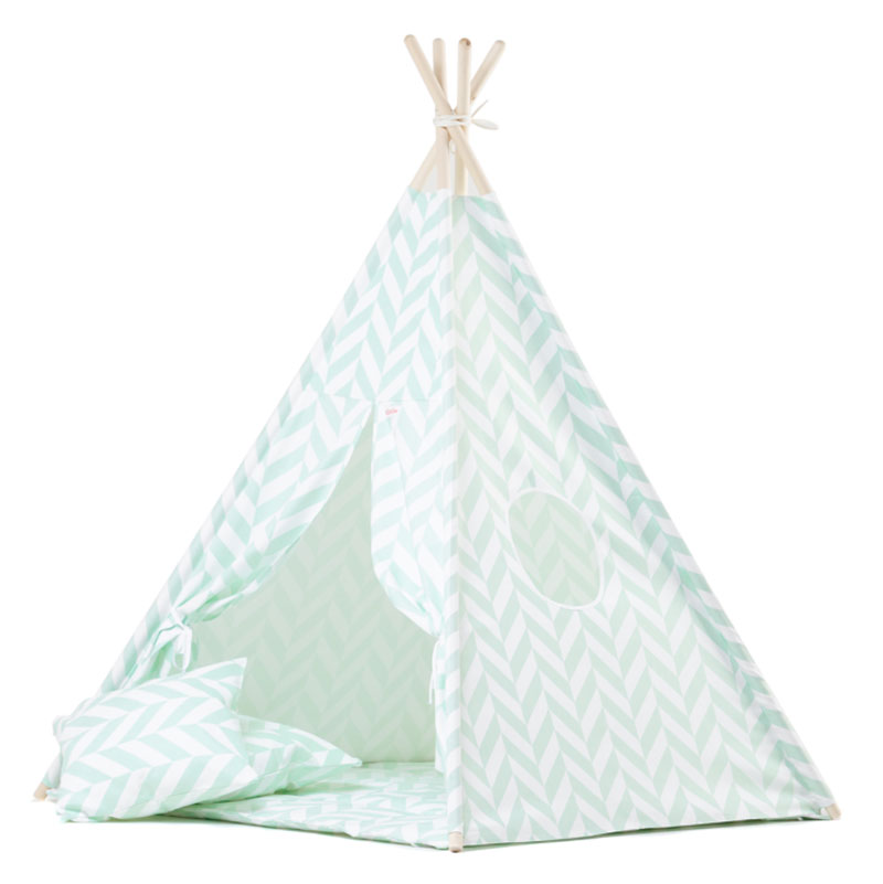 Wigiwama Tipi Set Herringbone Mint