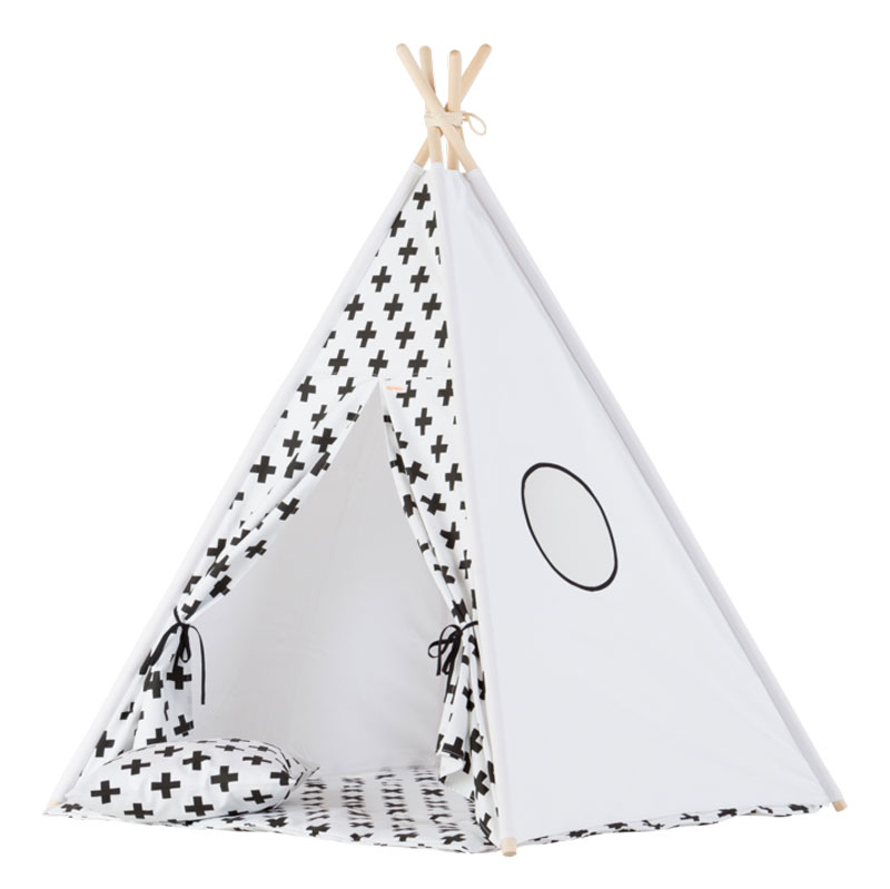 Wigiwama Tipi Set Monochrome Cross