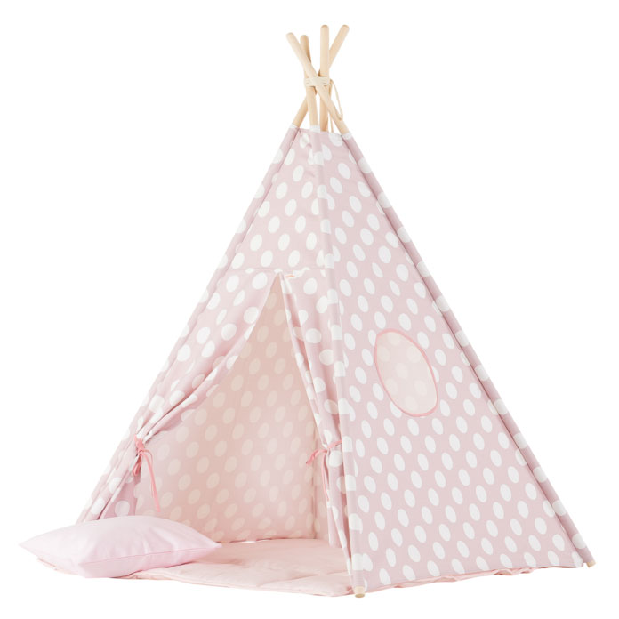 Wigiwama Tipi Set Large Dots Pink
