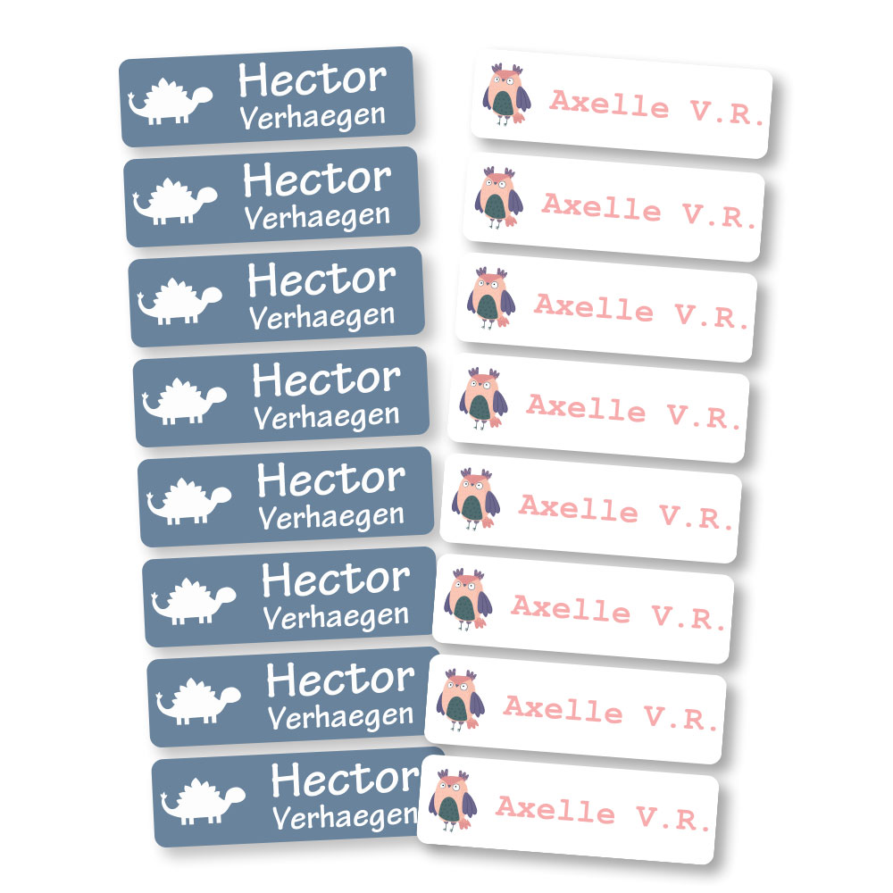Iron-on-Labels (45 pieces)