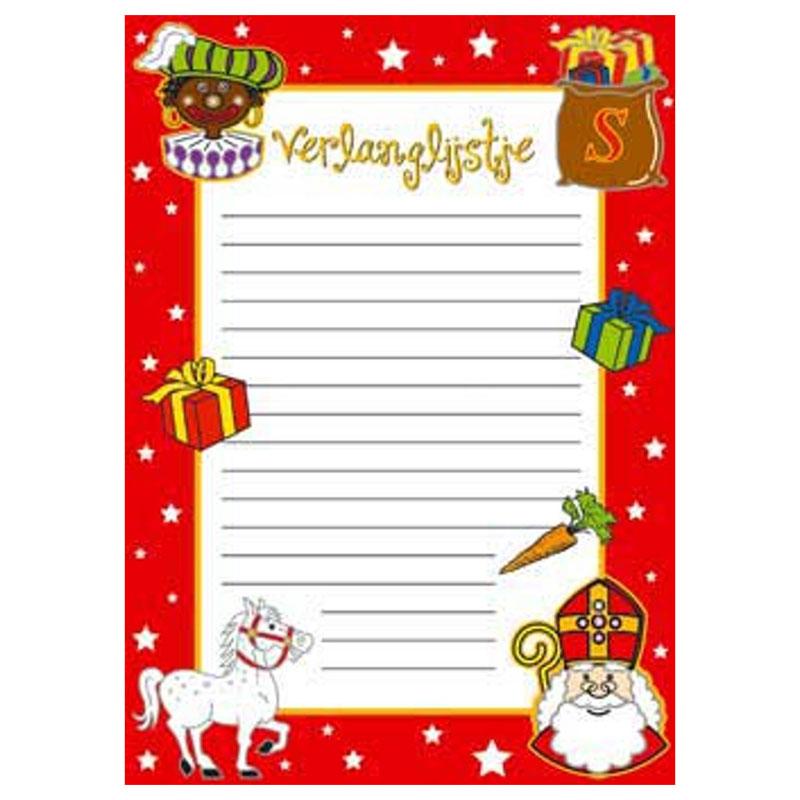 GRATIS Verlanglijstje Sinterklaas
