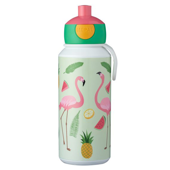 Mepal Campus Pop-Up Drinkfles 400 ml - Flamingo