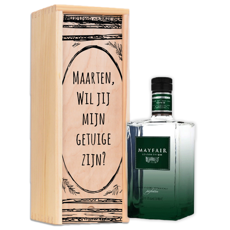 Paquet de gin personnalisé Mayfair London Dry Gin