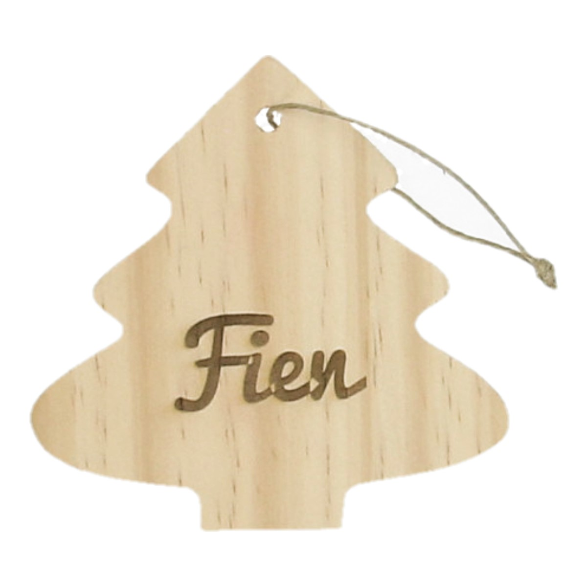 Kersthanger Gegraveerd Met Naam - Kerstboom