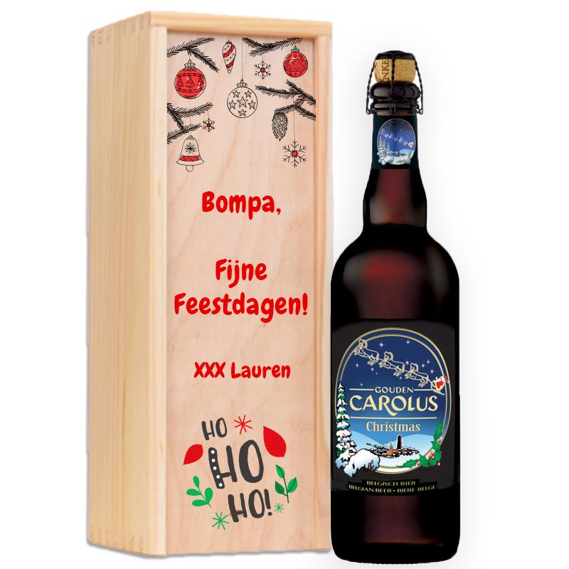 Gepersonaliseerd bierpakket Gouden Carolus Christmas