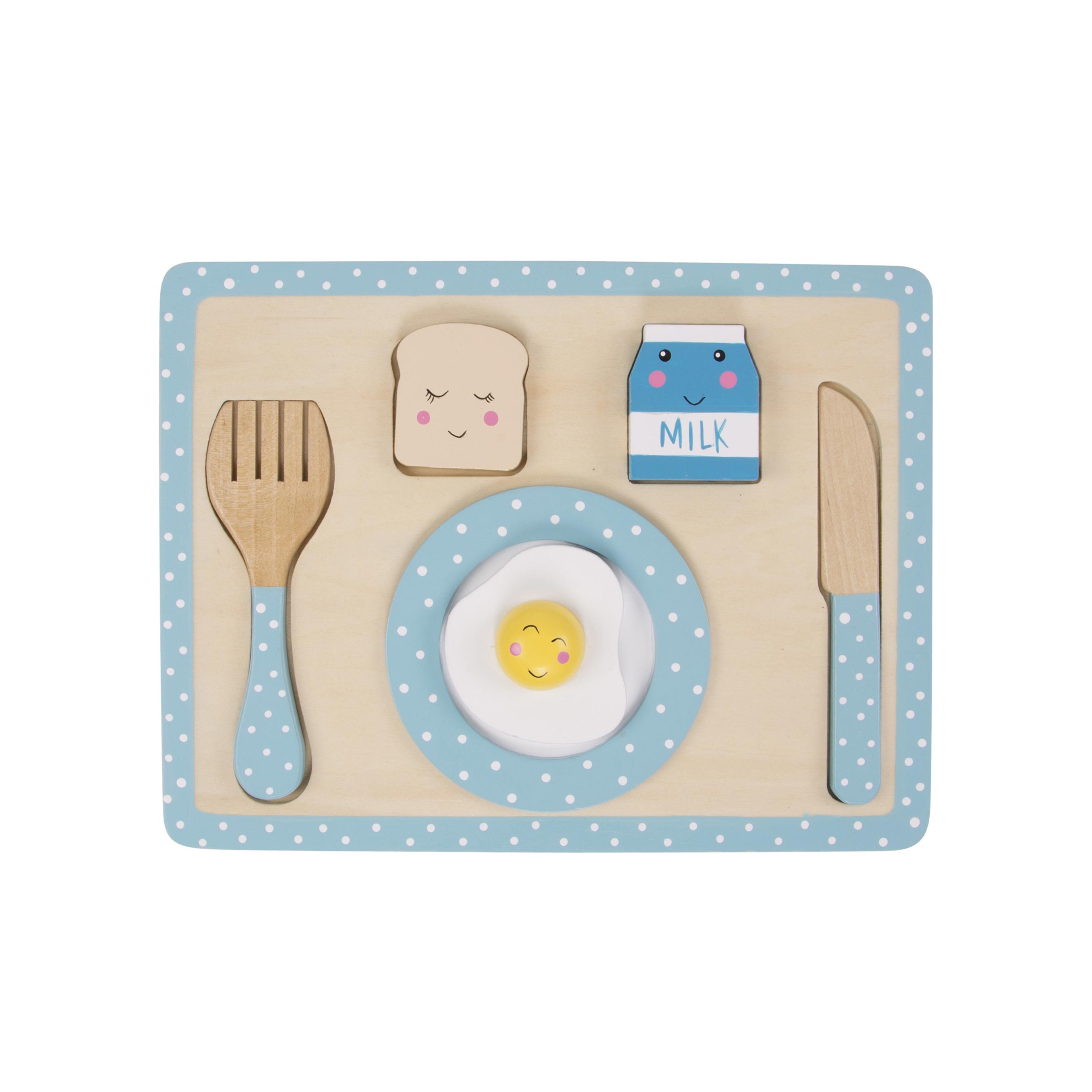 Houten Speelset Ontbijt - Blauw