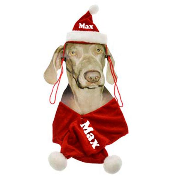 Kerstpakje Hond met naam