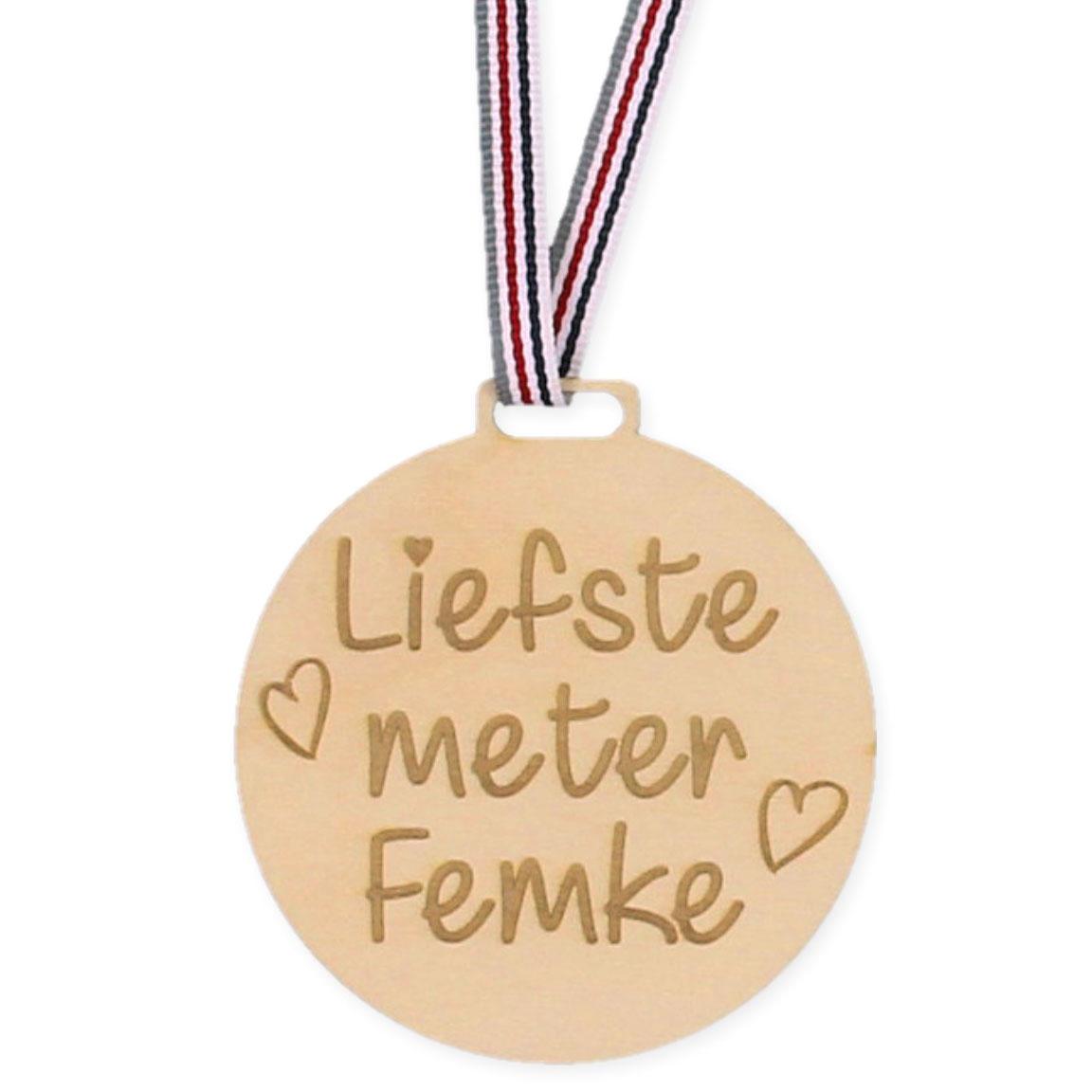 Houten Medaille - Liefste Meter