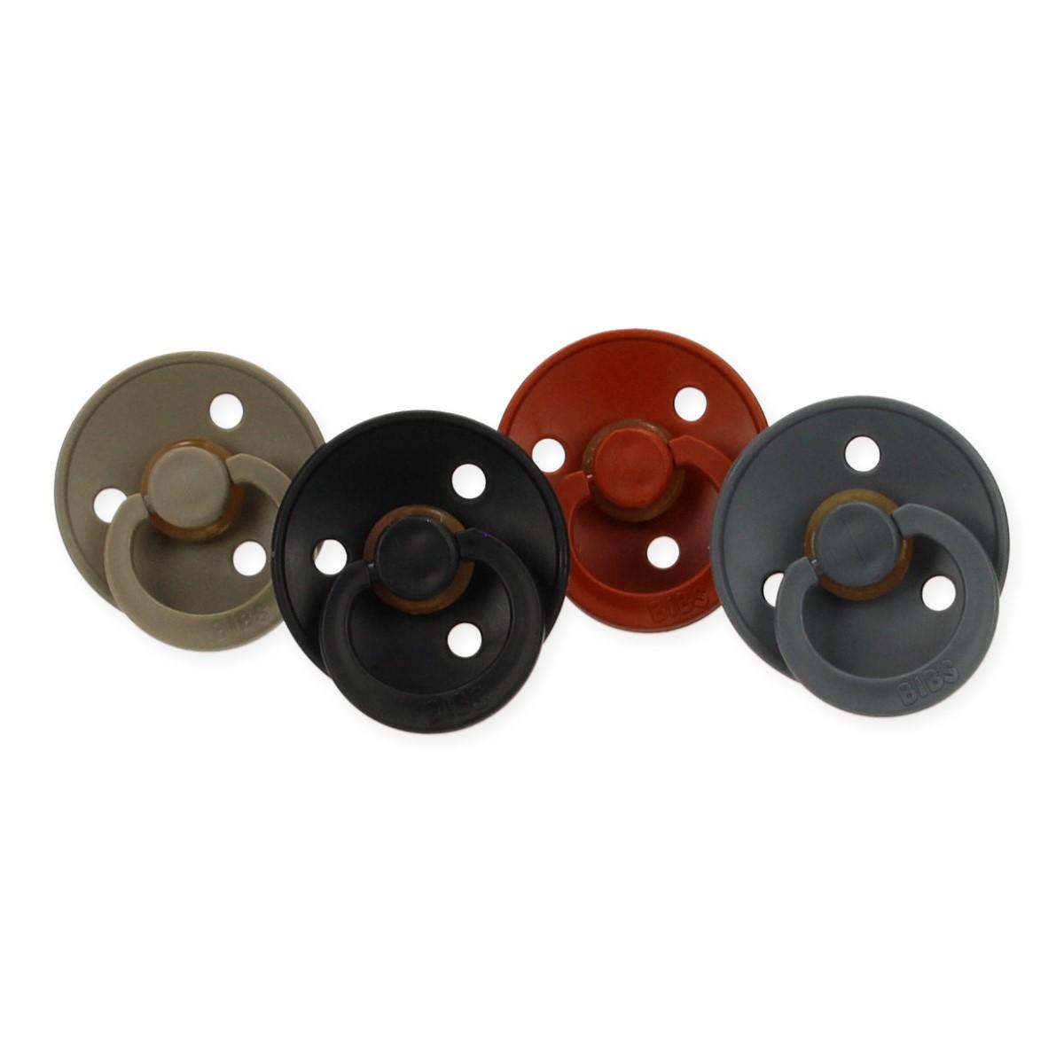 Set van 4 fopspenen Bibs latex 6-18 maanden - Industry
