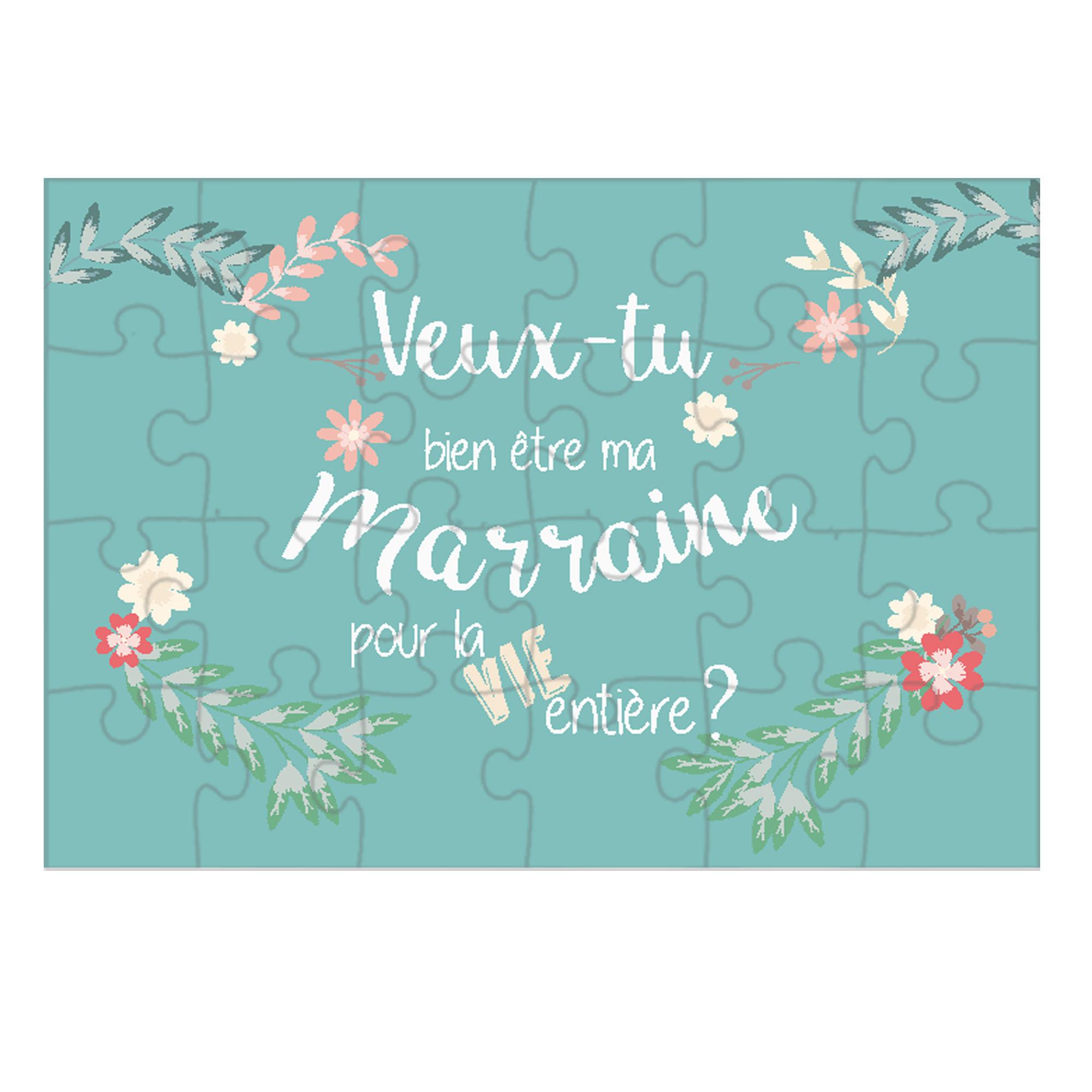 Puzzle - Marraine (fleur)
