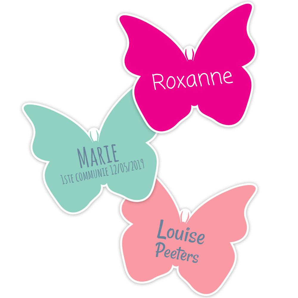 20 étiquettes autocollantes - papillon