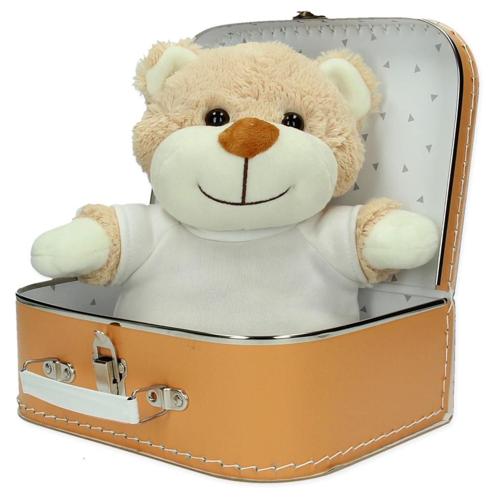 Gepersonaliseerd  cadeaupakket koffer met knuffel Benny