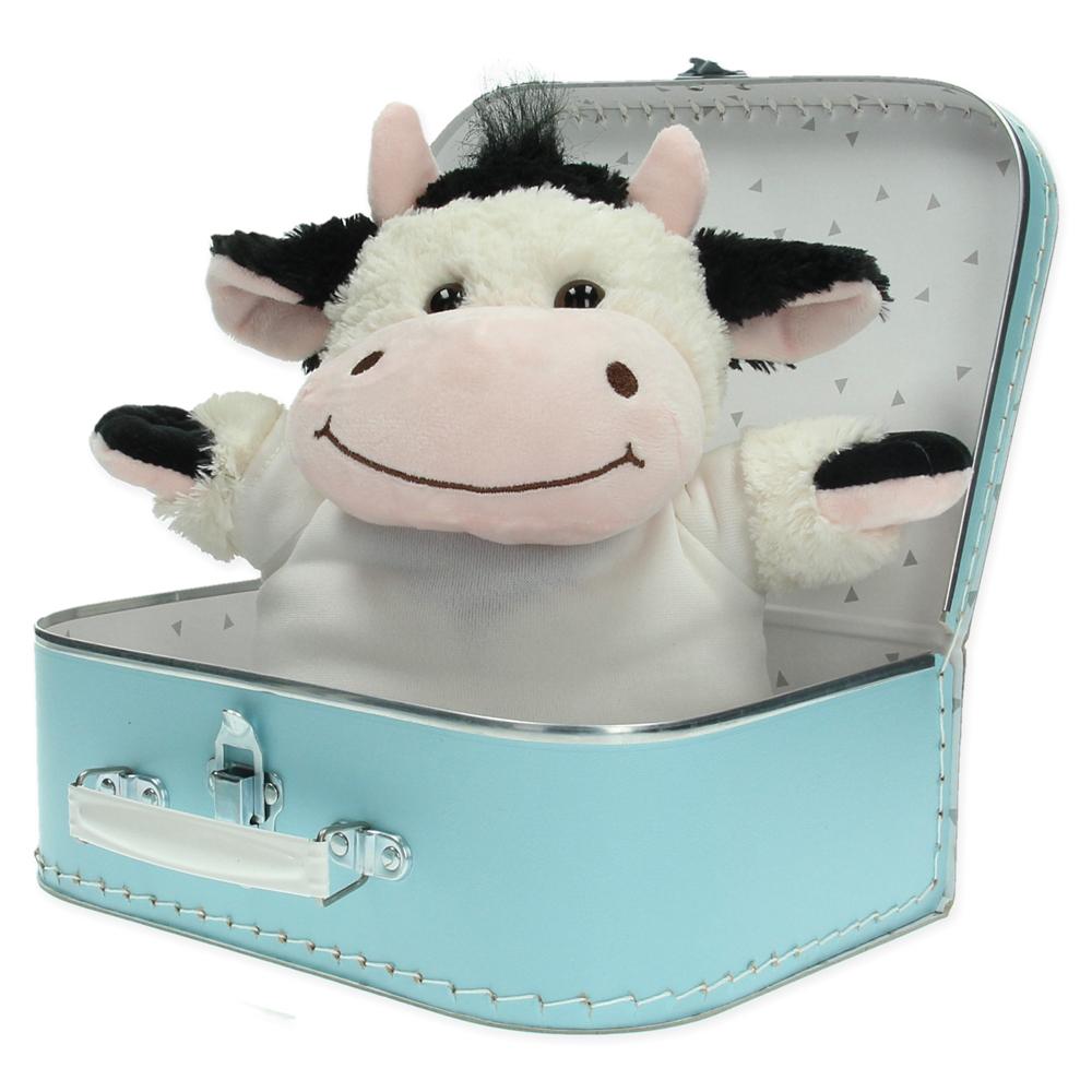 Gepersonaliseerd cadeaupakket koffer met knuffel Freddie de koe