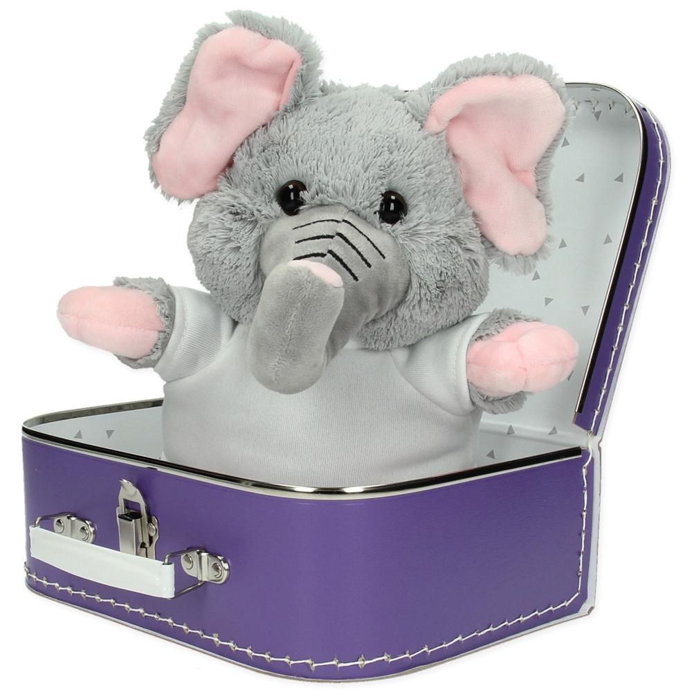 Gepersonaliseerd  cadeaupakket koffer met knuffel Sammy de olifant