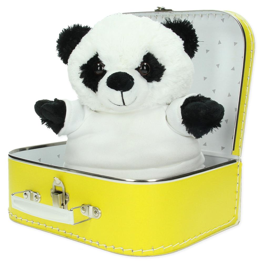 Gepersonaliseerd cadeaupakket koffer met knuffel Charlie de panda