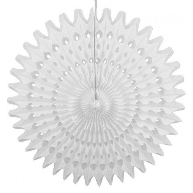 Honeycomb Fan - Wit 45 cm