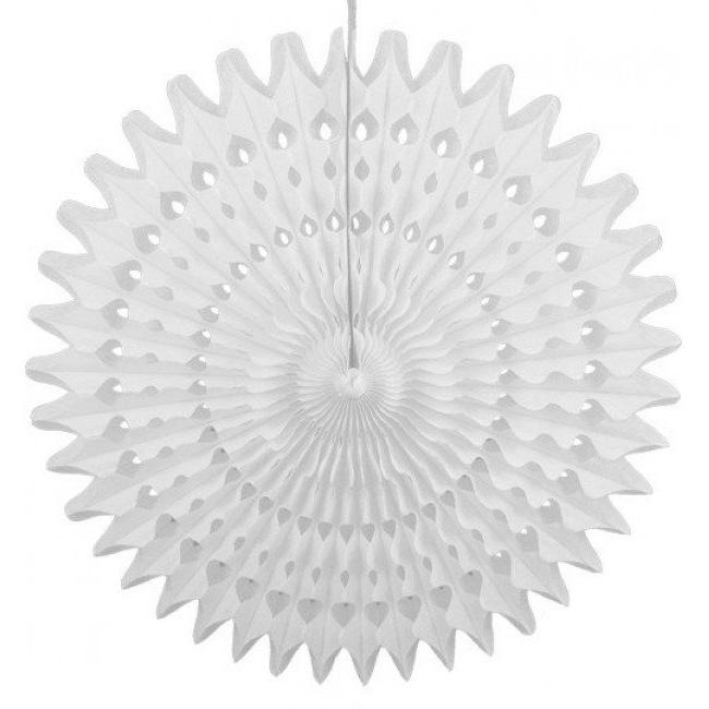 Rosace ajourée - blanc  45cm
