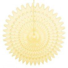 Honeycomb Fan - Ivoor/zacht geel 45 cm