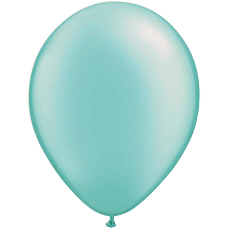 Set van 10 ballonnen - turquoise (30 cm)