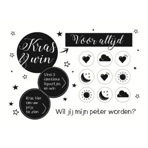 Kraslot Wil Jij Mijn Peter Worden? - Win voor altijd - Black & White
