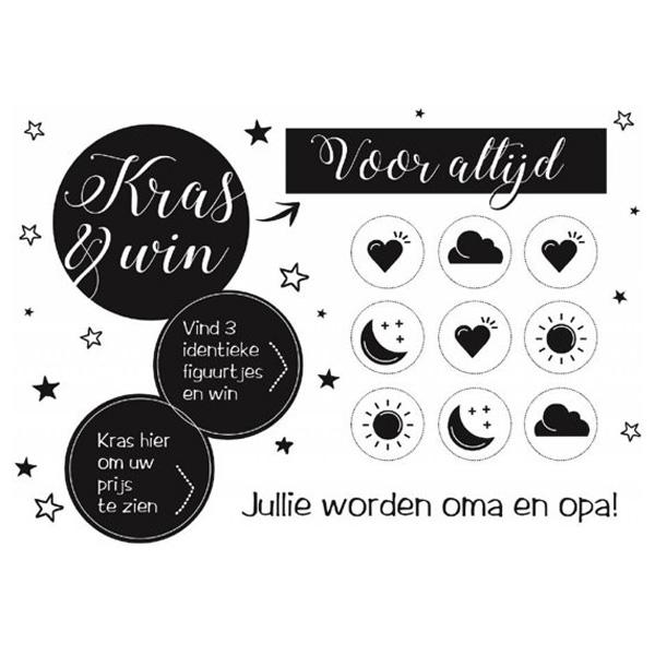 Kraslot Jullie Worden Oma En Opa - Win voor altijd - Black & White