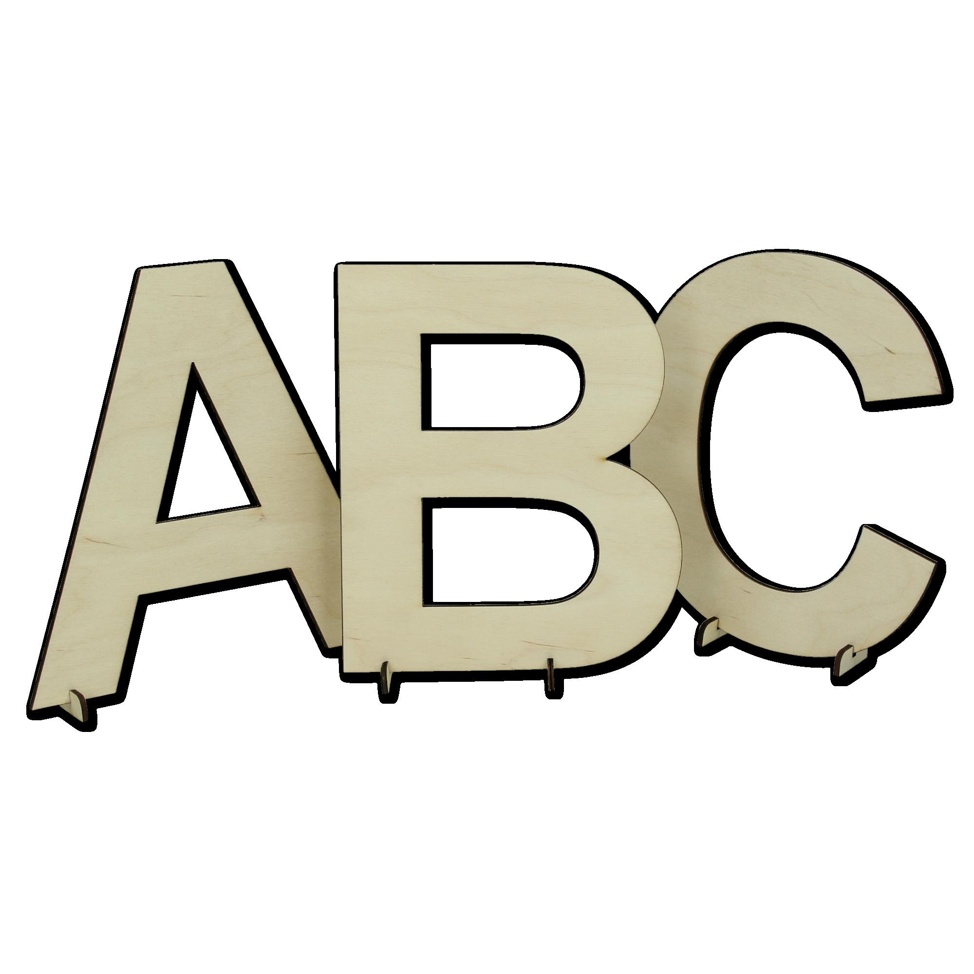 Lettres en bois avec support