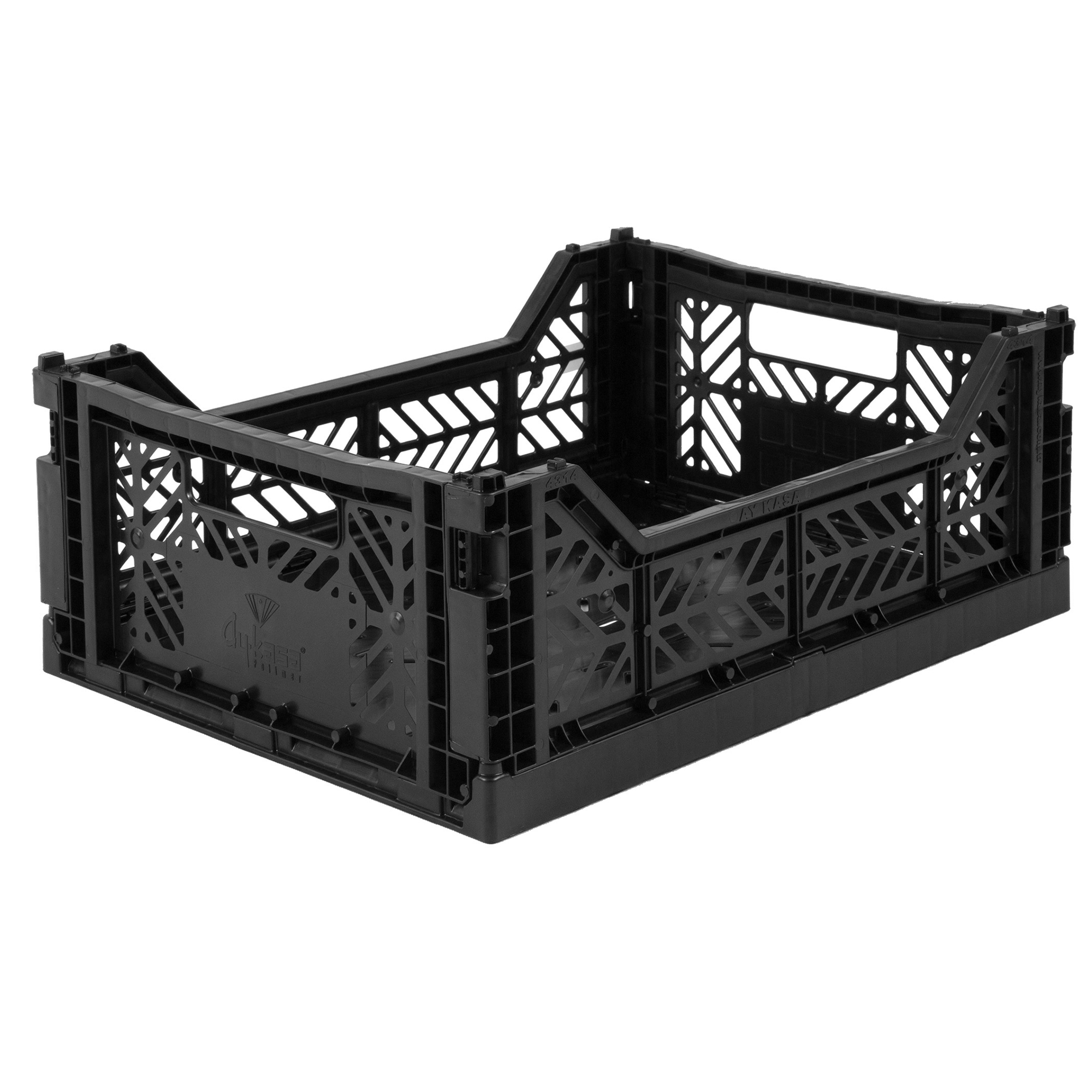 Eef Lillemor Folding Crate Midi - Black