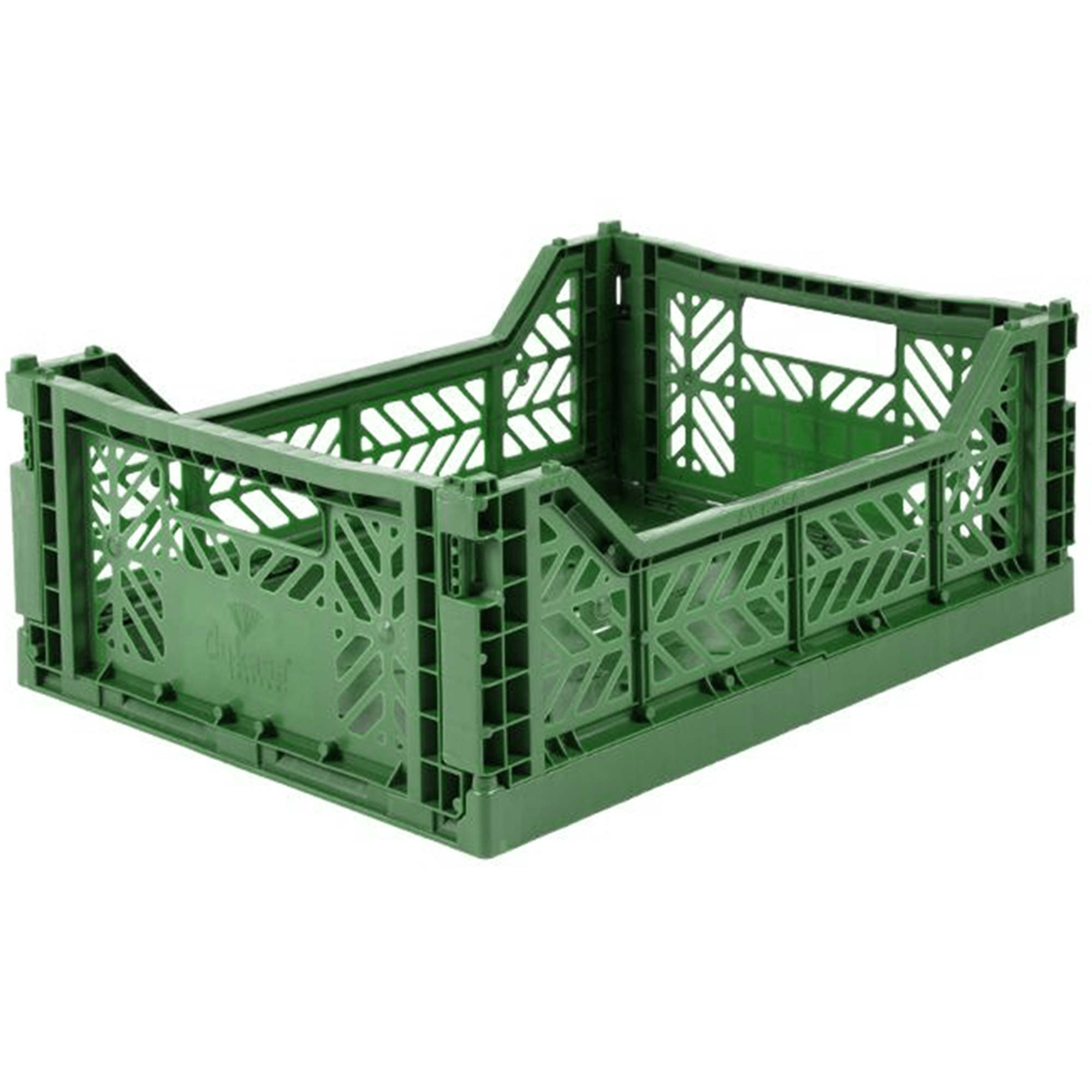 Eef Lillemor Folding Crate Midi - Dark Green