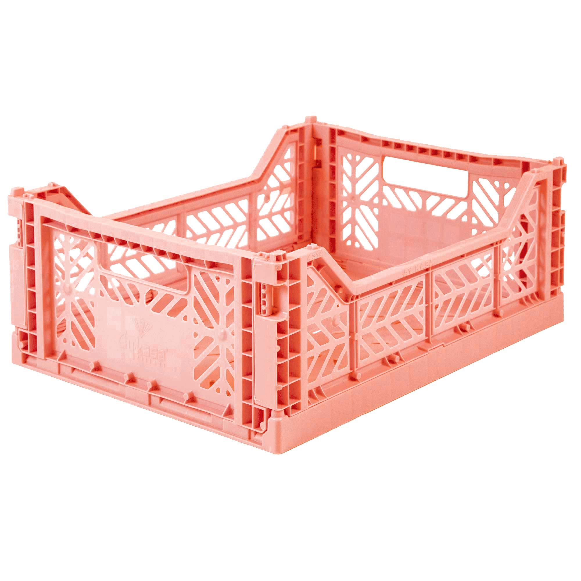 Eef Lillemor Folding Crate Midi - Salmon Pink