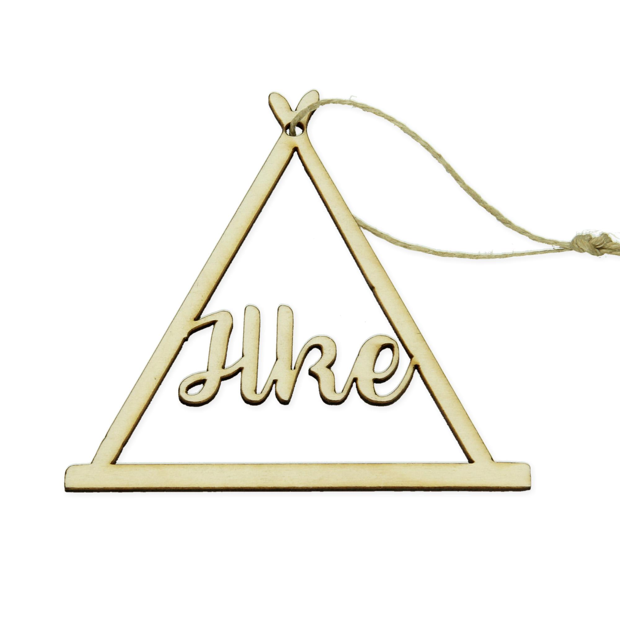 Pendentif en bois avec nom - triangle